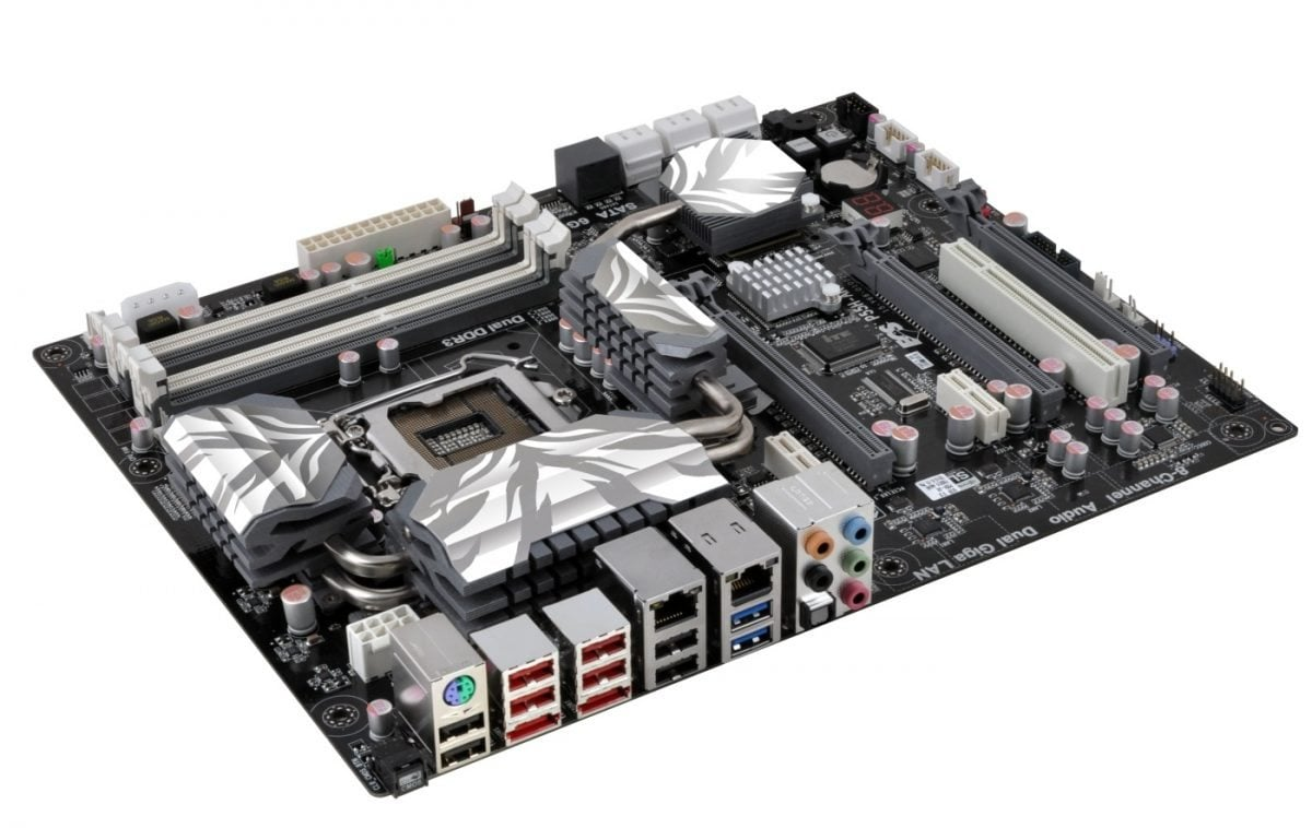 ecs introduces the latest black series p55h ak motherboard
